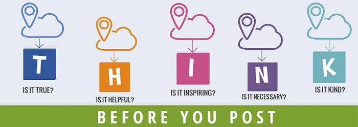 Piensa antes de publicar en una red social
